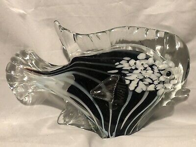 "X-Large!! 10""Hand Blown Glass Fish Murano Style Figurine Home"