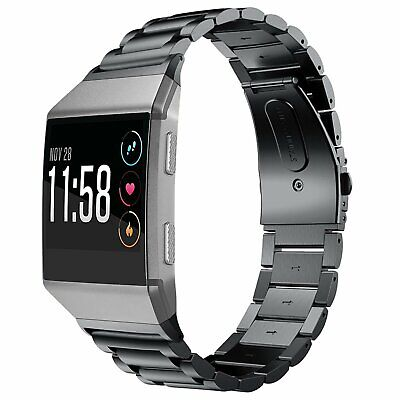 Fitbit Ionic Band, Shangpule Stainless Steel Metal Replacement Bracelet Strap wi