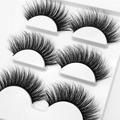 Wispy Handmade Messy Extension Tools Natural Thick False Eyelashes 3D Mink Hair