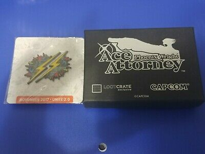Loot crate lot Phoenix Wright and november 2017 Pin DX