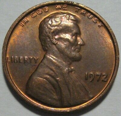 = 1972 / 72 BU DOUBLED DIE Lincoln Memorial Cent, DOUBLE DIE, FREE Shipping