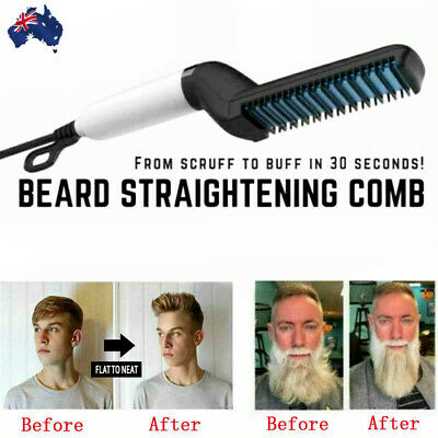 Quick Beard Straightener Multifunctional Hair Comb Curling Iron Curler Cap Men