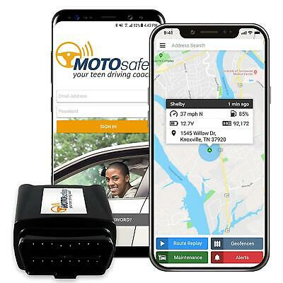 MOTOsafety OBD GPS Tracker Device with 3G GPS Service Locator, Real-Time Teen Dr