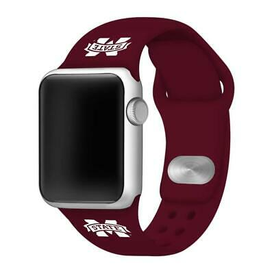 Affinity Bands Mississippi State Bulldogs Silicone Sport Band Compatible with Ap