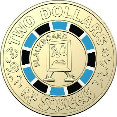 """2019 Mr Squiggle & Friends """"Blackboard"""" $2 Two Dollar Coin UNC Tracked Postage"""