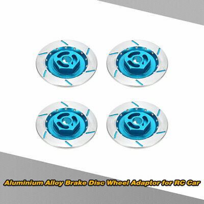 4Pcs Aluminum Alloy Brake Disc Wheel Adaptor for Suitable for 1/10 RC Car P2P1
