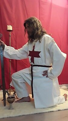 Knights Templar, warrior of God,Crusader Surcoat, 100%cotton. XL fits over mail