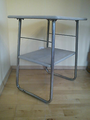 Tisch Stahlrohr Bauhaus Thonet-Mauser-Skai 40erJ. Art DecoServing- Side-Table