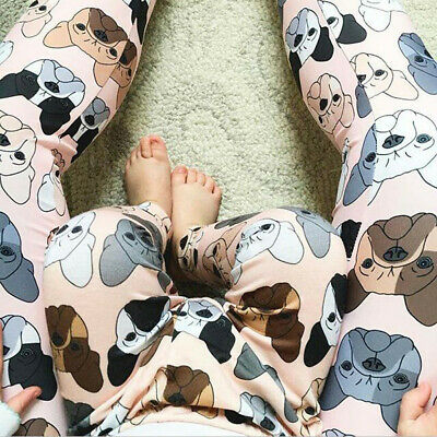 Toddler Baby Kids Girls Boys Dog Trousers Family Long Pants Casual Clothing