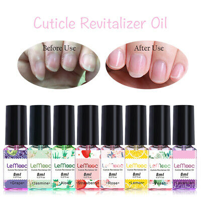 LEMOOC 8ml Nail Cuticle Oil Fruit Flower Flavor Smoothing Bared Nail Care Tools
