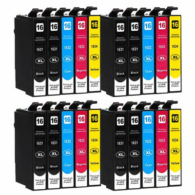 20 Ink Cartridges (Set + Bk) for Epson Workforce WF-2010W WF-2630WF WF-2750DWF