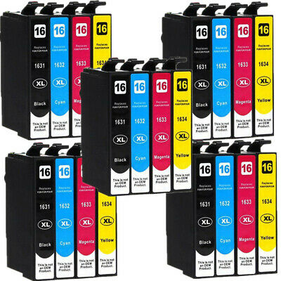 20 Ink Cartridges for Epson Workforce WF-2010W WF-2630WF WF-2750DWF WF2510WF