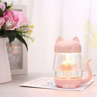 Ultrasonic Cool Mist Humidifier 3 in 1 Aromatherapy Diffusers USB Air Fresh Pink