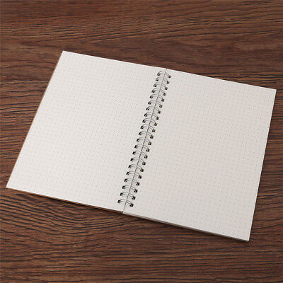 White A5 Bullet Journal Notebook Medium A5 Hardcover 90 Pages Dot Grid Journal