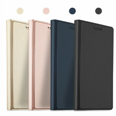 For Samsung Galaxy A9 A8 A7 A6 2018 Slim Magnetic Leather Wallet Flip Cover Case