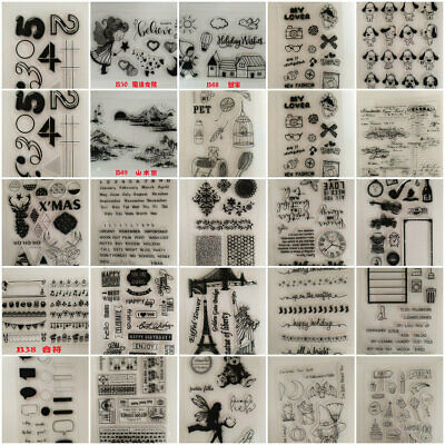 DIY Silicone Clear Stamp Transparent Rubber Scrapbook Embossing Craft Xmas Gift