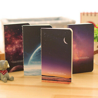 4pcs Mini Lovely Journal Diary Notebook Lined Paper Vintage Retro Notepad Kids