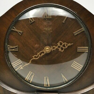 Smiths Sectric Clock - Art Deco wood body + brass hands & numerals - accurate