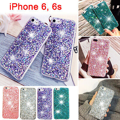 Luxury Glitter Bling Shockproof Soft Silicone Sparkle iPhone 6,6S Case Cover UK