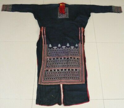 Tribal exotic chinese yao people's old hand embroidery robe