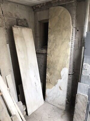 Antique White Marble Cararra marble Bar Top Work Surface Salvage