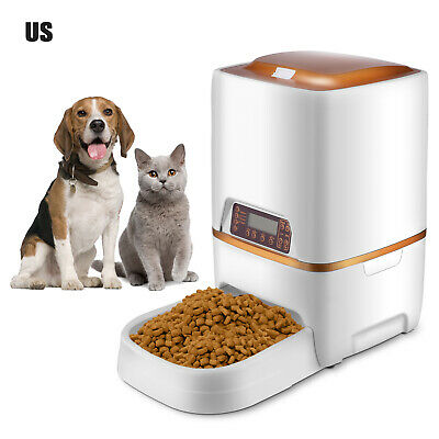 6L Automatic Pet Feeder Dog /Cat Programmable Animal Food Bowl Timed Dispenserd