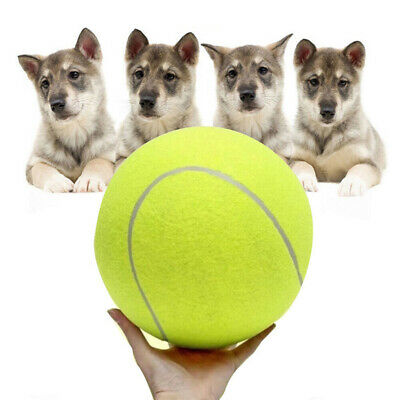 Big Giant Pet Dog Puppy Tennis Ball Chew Toy Thrower Chucker Launcher Toy