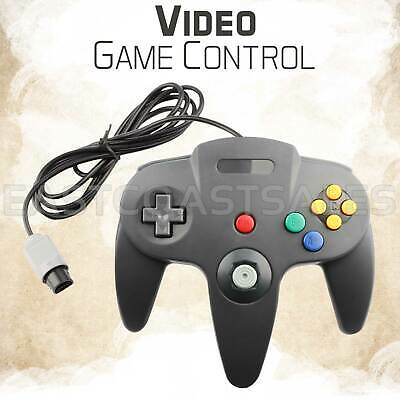 For N64 Controller Joystick Gamepad Video Wired Classic Nintendo Console Grey