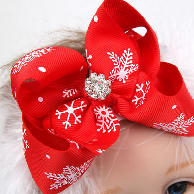 Baby Christmas Headband Feather Bow Snow  HairBand Hair Accessories Fashion