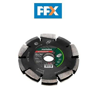 Metabo Dia-CD2 125mm 2R Professionnel Up Mural Universel Chaser Lame pour MFE40