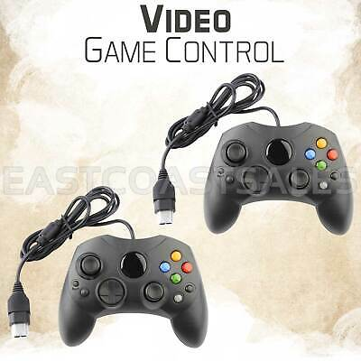 2x For XBOX S-Type Controller Original Microsoft Wired Video Game Pad