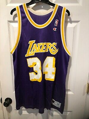 8d3bd83b4bc Vintage Rare NBA Champion Jersey Shaquille O'Neal Shaq LOS ANGELES LA  Lakers 48