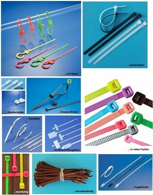 Cable Tie in Various Designs, Sizes and Colours