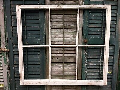 Repurpose Old Window Frame, Upcycle, 36 x 40, Rustic Farmhouse Garden Decor