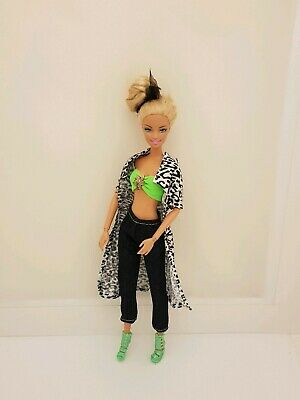 New complete leopard long top pants clothes outfit For Barbie doll Au seller CC5