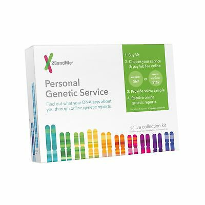 23 and Me Personal Genetic Ancestry DNA Testing Service Kit Test  NEW SEALED