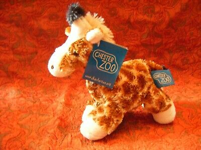 """Chester Zoo Giraffe Soft Toy 8"""" approx with tag VGC (B141)"""