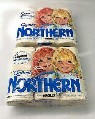 Quilted Northern Bathroom Tissue Toilet Paper Vintage 1986 NOS, 1 Pack Of 6 Roll