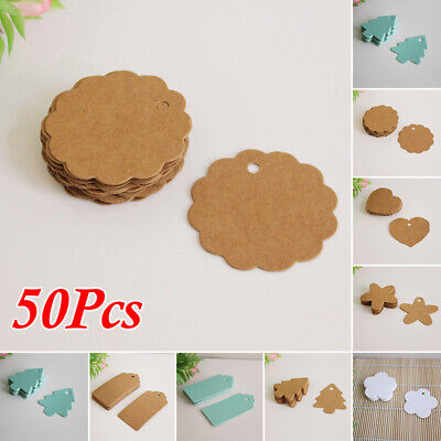 Blank Hang Tags Gift Cards Useful Newest Decoration 50pcs Kraft Paper Wedding