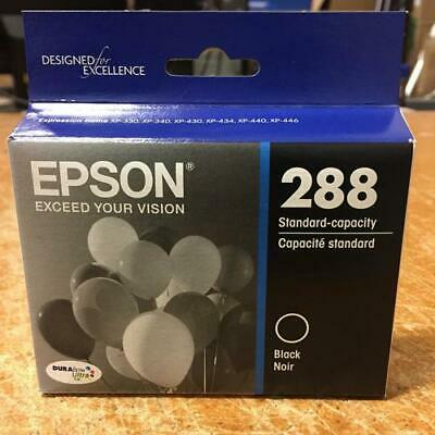 Epson T288120-S (288) DURABrite Ultra Black Printer Ink Cartridge EXP 4/2021