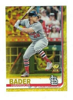 Harrison Bader 2019 Topps Series 1 YELLOW PARALLEL ROOKIE CUP CARDINALS WALGREEN