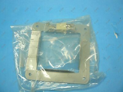 "Hoffman F44GPA Lay-In Type Wireway Panel Adapter 4"" x 4"" Steel Gray 52250 New"