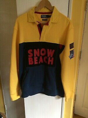 New Lauren Brand Red Beach Vest Snow Size Ralph Medium Polo Sample XiOkuPZ