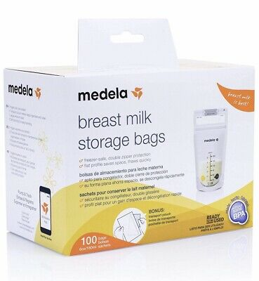 Medela Breast Milk Storage Bags 100 count per Box Ready to Use