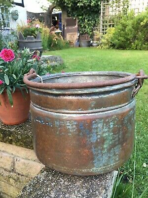 Vintage 19th Century French copper/tin bucket