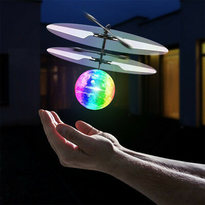 Flash Flying Ball Infrared Induction Colorful LED Disco RC Helicopter Toy US
