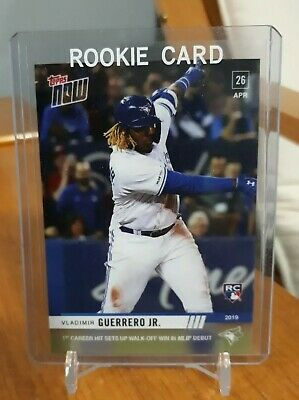 Vladimir Guerrero Jr. RC 2019 Topps NOW #137 1st Career Hit MLB Debut Rookie