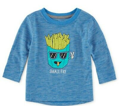 NWT Baby Boys Okie Dokie Long Sleeve Blue Small Fry Shirt 18 Months