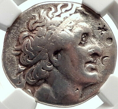 PTOLEMY I Soter Authentic Ancient 305BC Silver Greek Tetradrachm Coin NGC i68930