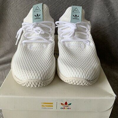 the best attitude f8eff dc6ad New Addidas Men s Pharrell Williams Tennis Hu Tactile Green White Size 10  BY8716